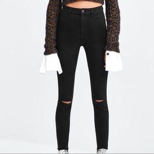 Zara Hi-Rise Skinny Tuxedo Jegging